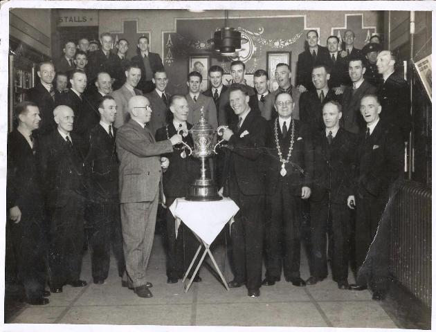 Presentation at Clydebank Town hall Junior Cup 1941-42