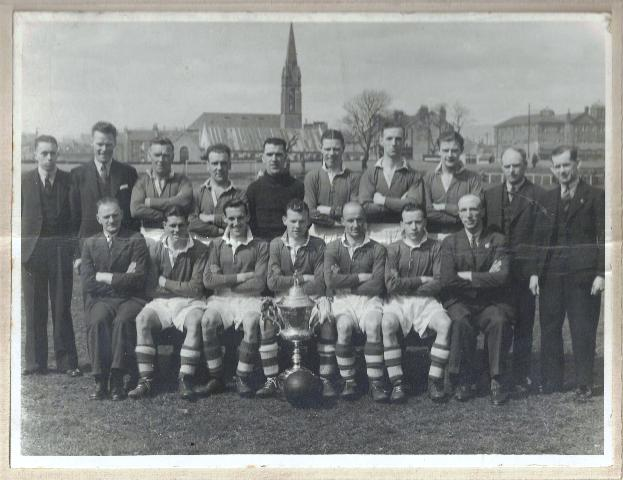 With Scottish Junior Cup 1941-42 at Holm Park