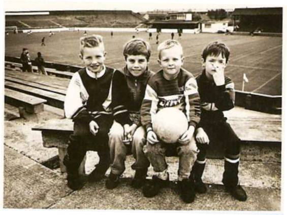 Unknown young fans at  Kilbowie