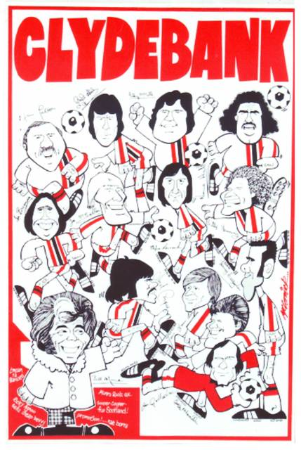 Christmas Day Poster v St.Mirren 1976